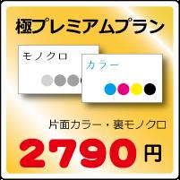 極プレミアム名刺プラン片面カラー・裏モノクロ